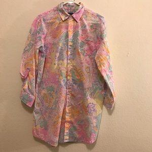 Lauren Raulph Lauren flowered woven sleepshirt